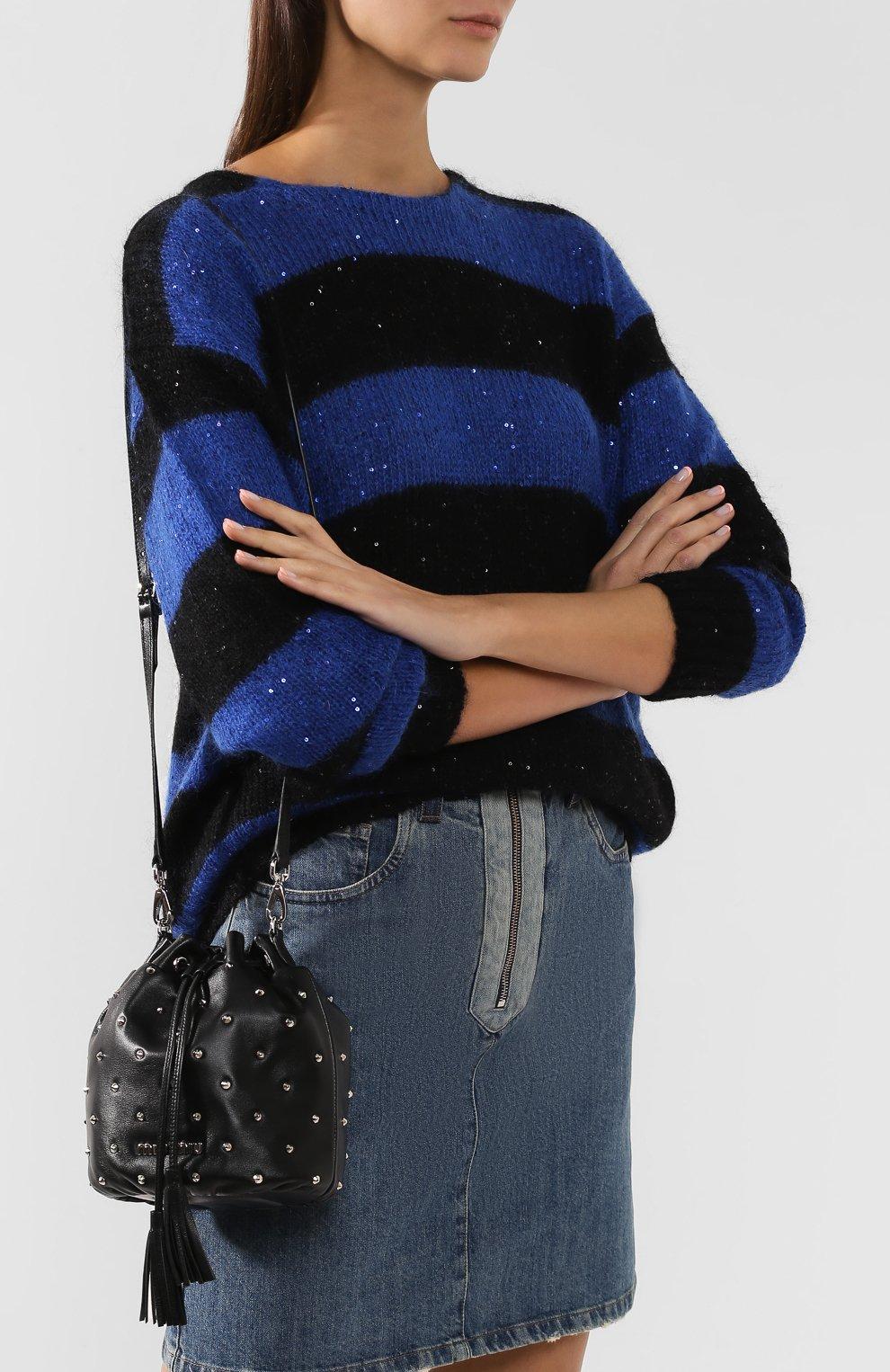 Женский рюкзак из кожи MIU MIU черного цвета, арт. 5BE014-2B6I-F0002-OBO | Фото 5