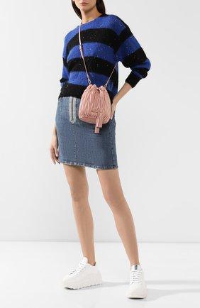 Женский рюкзак из кожи MIU MIU розового цвета, арт. 5BE014-N88-F0615-OOO | Фото 2