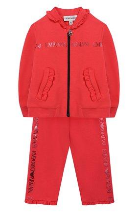 Детский комплект из кардигана и брюк EMPORIO ARMANI разноцветного цвета, арт. 6GEV03/3J2PZ | Фото 1