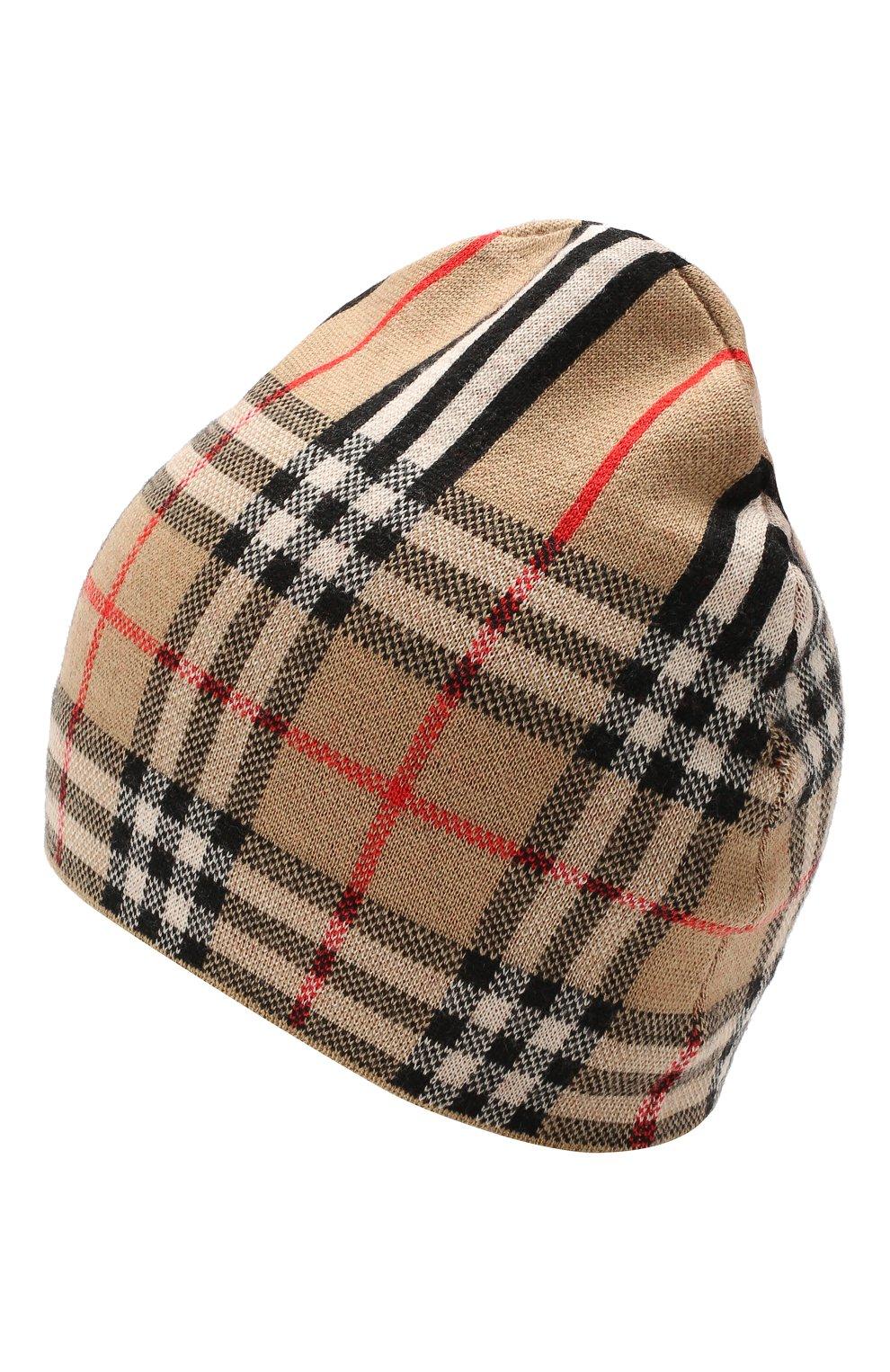 Детский комплект из шарфа и шапки BURBERRY разноцветного цвета, арт. 8014170   Фото 2 (Материал: Шерсть; Статус проверки: Проверено)