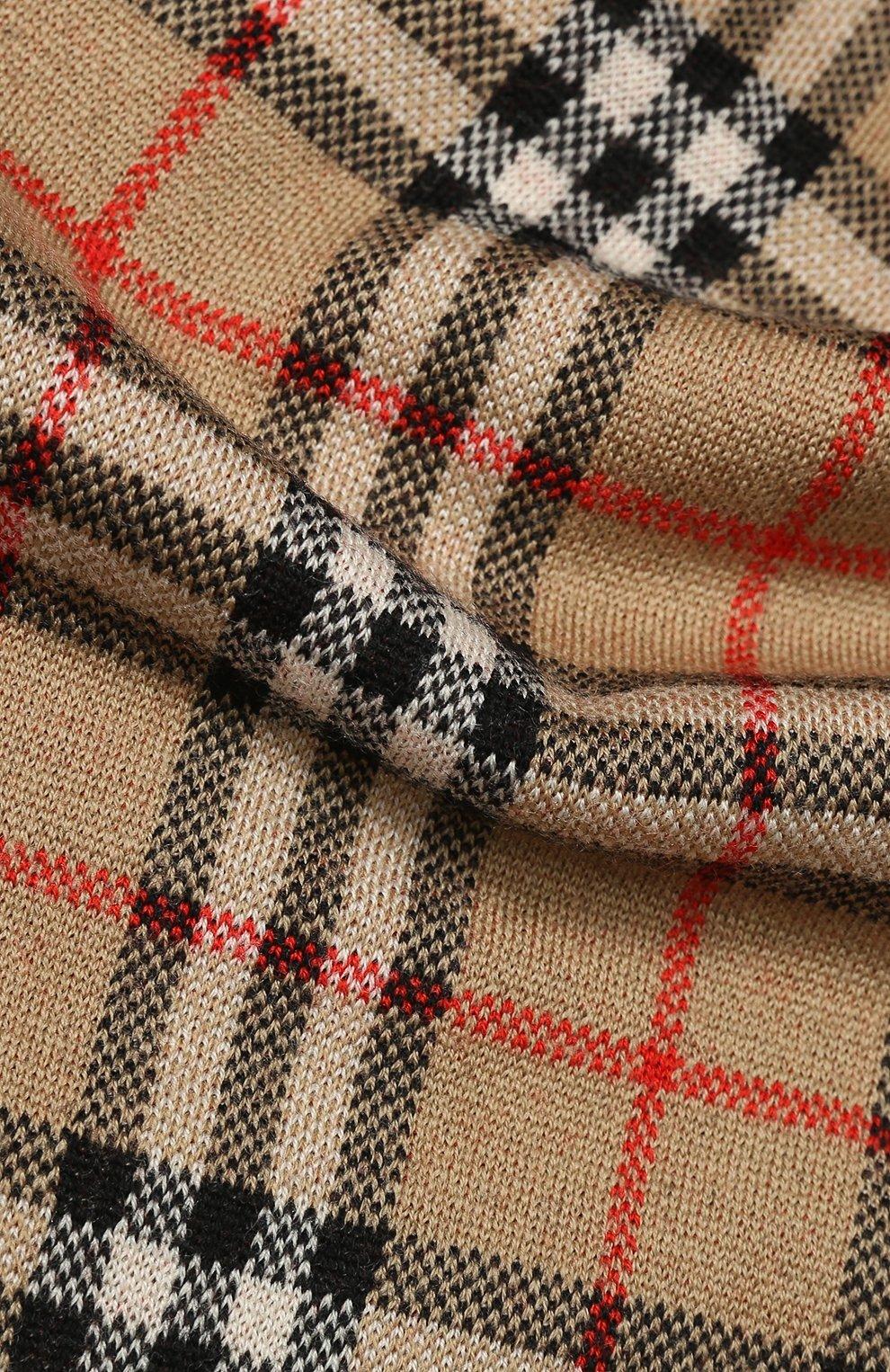 Детский комплект из шарфа и шапки BURBERRY разноцветного цвета, арт. 8014170   Фото 3 (Материал: Шерсть; Статус проверки: Проверено)