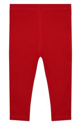 Детские хлопковые леггинсы BURBERRY красного цвета, арт. 8011704 | Фото 1