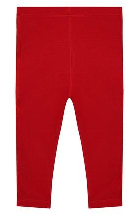 Детские хлопковые леггинсы BURBERRY красного цвета, арт. 8011704 | Фото 2