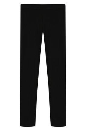 Детские хлопковые леггинсы BURBERRY черного цвета, арт. 8011008 | Фото 1