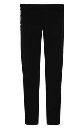 Детские хлопковые леггинсы BURBERRY черного цвета, арт. 8011008 | Фото 2