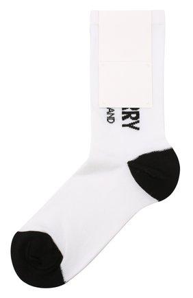 Детские хлопковые носки BURBERRY белого цвета, арт. 8009430 | Фото 1