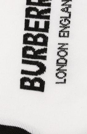 Детские хлопковые носки BURBERRY белого цвета, арт. 8009430 | Фото 2