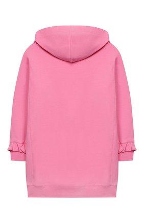 Детское хлопковое платье с капюшоном PHILOSOPHY DI LORENZO SERAFINI KIDS розового цвета, арт. PJAB31/FE147/UH006/XXS-XS   Фото 2