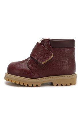 Детские кожаные ботинки с меховой отделкой GALLUCCI бордового цвета, арт. T00234BM/SC S S G0M ALC/VIT | Фото 2