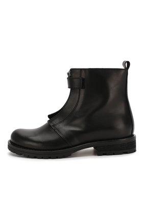 Детские кожаные ботинки GALLUCCI черного цвета, арт. J05299AM/TR P V CUG VIT   Фото 2