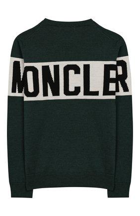 Детский шерстяной пуловер MONCLER ENFANT зеленого цвета, арт. E2-954-90071-00-A9084/4-6A | Фото 2