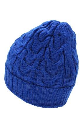 Детского шерстяная шапка MONCLER ENFANT голубого цвета, арт. E2-954-00110-05-04S02 | Фото 2
