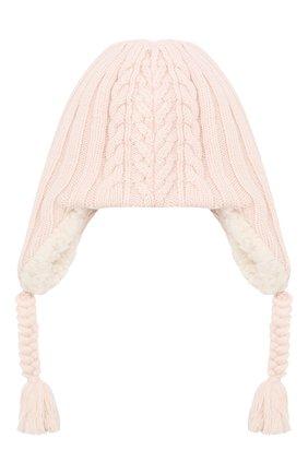 Детского шерстяная шапка MONCLER ENFANT светло-розового цвета, арт. E2-951-99242-05-A9270 | Фото 2