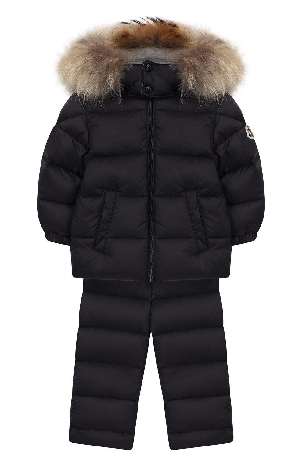 Детский комплект из куртки и комбинезона MONCLER ENFANT синего цвета, арт. E2-951-70335-25-53079   Фото 1