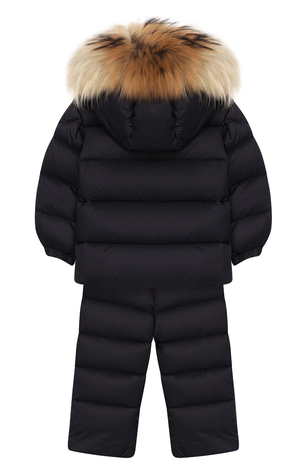 Детский комплект из куртки и комбинезона MONCLER ENFANT синего цвета, арт. E2-951-70335-25-53079   Фото 2