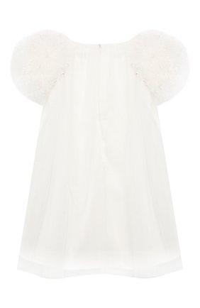 Детское хлопковое платье CHARABIA белого цвета, арт. S055H/5Y-8Y   Фото 2