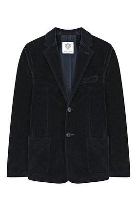 Детский хлопковый пиджак DAL LAGO темно-синего цвета, арт. W004/8727/13-16 | Фото 1
