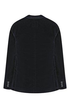 Детский хлопковый пиджак DAL LAGO темно-синего цвета, арт. W004/8727/13-16 | Фото 2