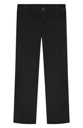 Детские хлопковые брюки DAL LAGO черного цвета, арт. N107/2215/4-6   Фото 1