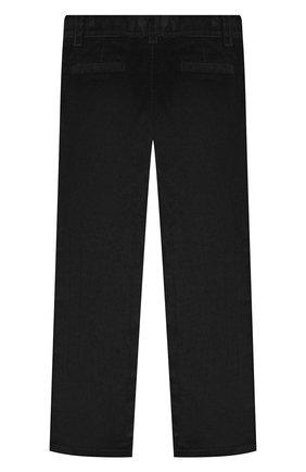 Детские хлопковые брюки DAL LAGO черного цвета, арт. N107/2215/4-6   Фото 2