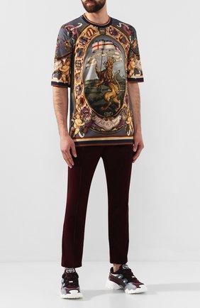 Мужская хлопковая футболка DOLCE & GABBANA разноцветного цвета, арт. G8KJ3T/HH76H | Фото 2