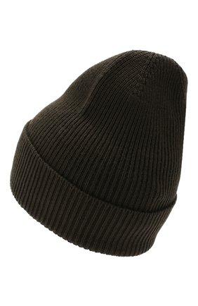 Мужская шерстяная шапка MONCLER хаки цвета, арт. E2-091-00217-00-04957 | Фото 2