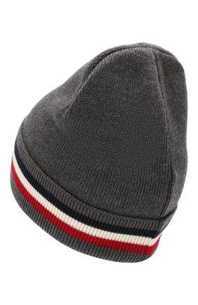 Мужская шерстяная шапка MONCLER темно-серого цвета, арт. E2-091-00328-00-02292 | Фото 2