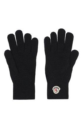 Мужские шерстяные перчатки MONCLER темно-синего цвета, арт. E2-091-00518-00-04957 | Фото 2