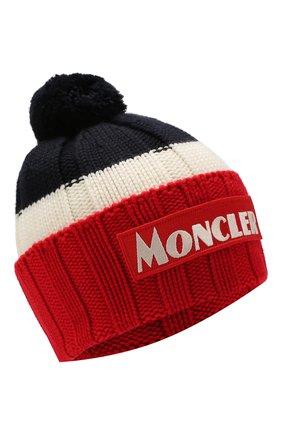 Мужская шерстяная шапка MONCLER красного цвета, арт. E2-091-99257-00-A9090 | Фото 1