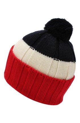 Мужская шерстяная шапка MONCLER красного цвета, арт. E2-091-99257-00-A9090 | Фото 2