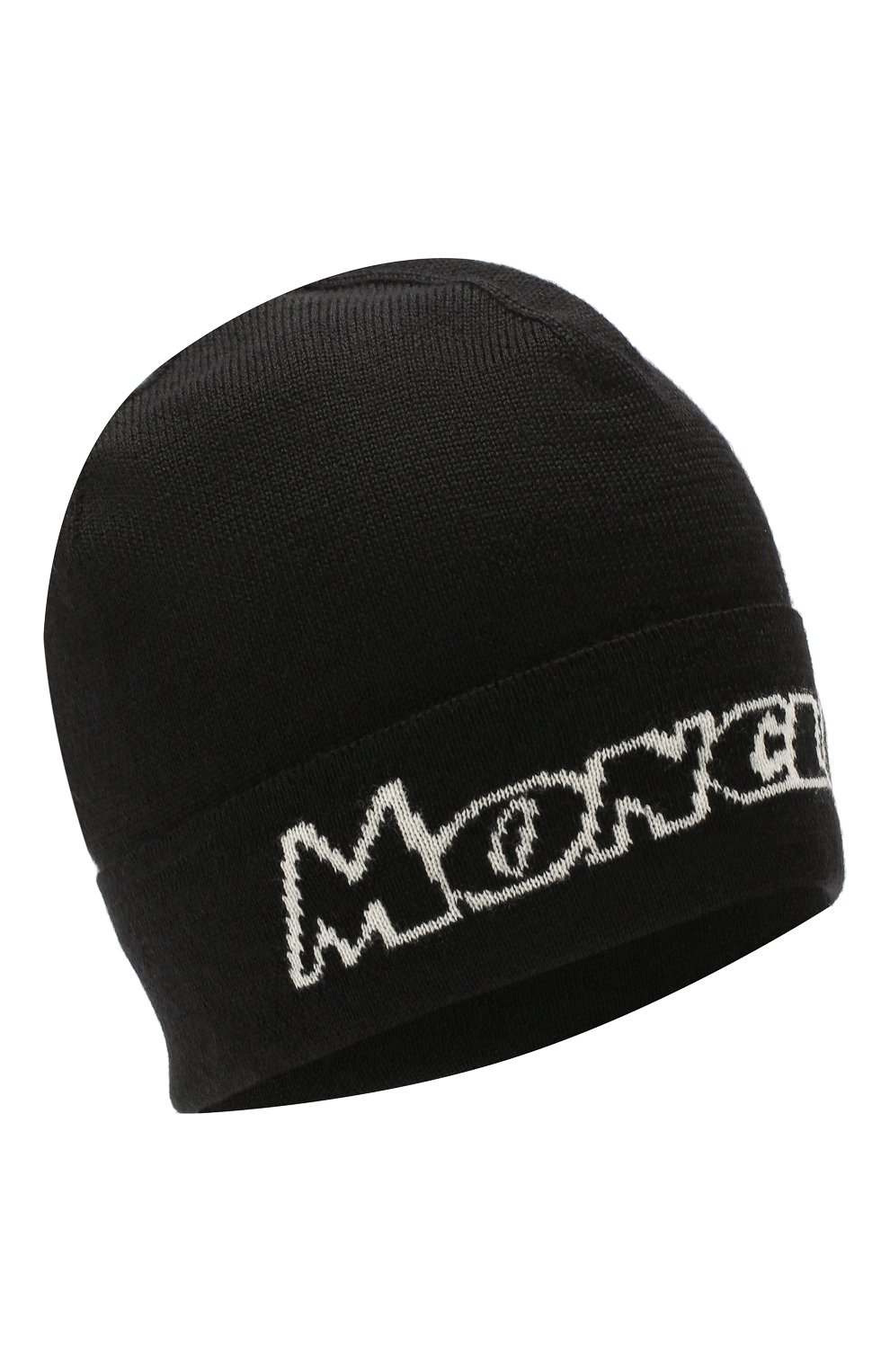 Мужская шерстяная шапка MONCLER черного цвета, арт. E2-091-99260-00-A9054   Фото 1