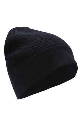 Мужская шерстяная шапка Z ZEGNA темно-синего цвета, арт. Z6K51/B4L | Фото 1