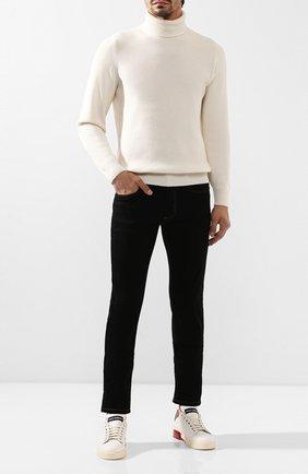 Мужские кожаные кеды portofino DOLCE & GABBANA белого цвета, арт. CS1709/AA780 | Фото 2