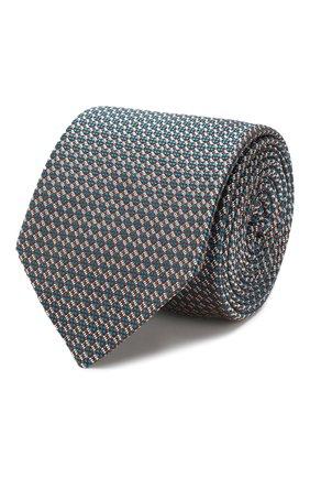 Мужской шелковый галстук ETON темно-зеленого цвета, арт. A000 31651 | Фото 1