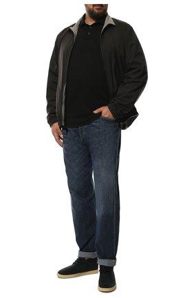 Мужское кашемировое поло LORO PIANA черного цвета, арт. FAF8291 | Фото 2