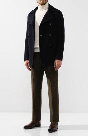 Мужские хлопковые брюки LORO PIANA хаки цвета, арт. FAI8336   Фото 2