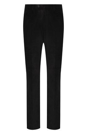 Мужской хлопковые брюки LORO PIANA черного цвета, арт. FAI8336 | Фото 1