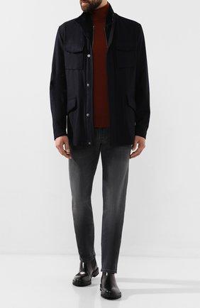 Мужская шерстяная куртка PAL ZILERI темно-синего цвета, арт. P36SK715R--B2106 | Фото 2