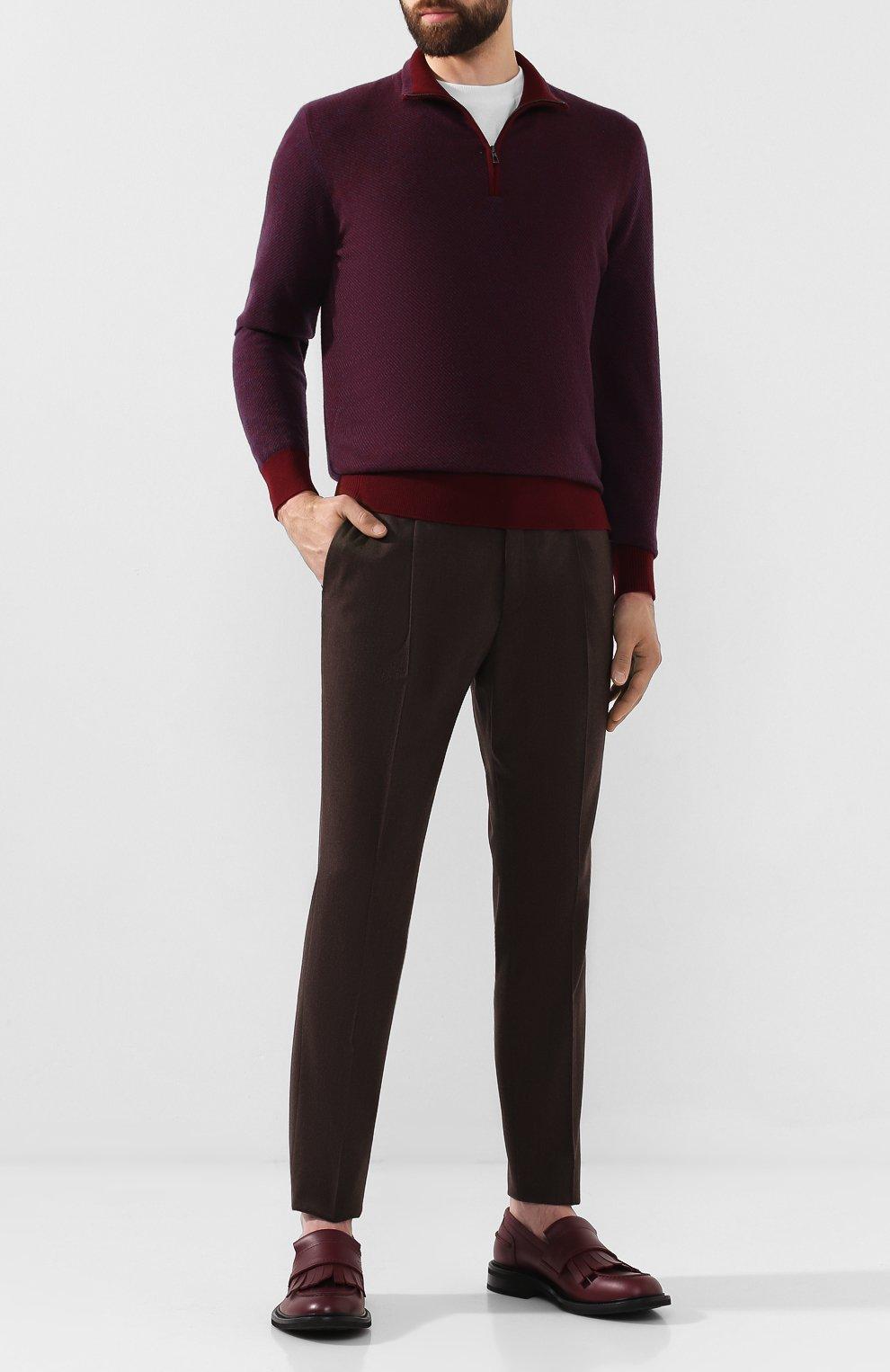 Мужские кожаные лоферы BOTTEGA VENETA бордового цвета, арт. 578284/VBPC0 | Фото 2