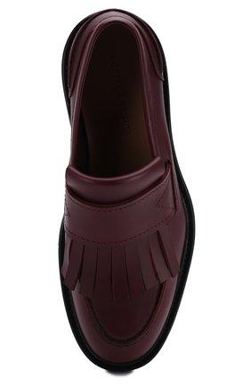Мужские кожаные лоферы BOTTEGA VENETA бордового цвета, арт. 578284/VBPC0 | Фото 5