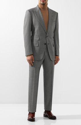 Мужской шерстяной костюм TOM FORD черно-белого цвета, арт. 622R50/21AL43   Фото 1