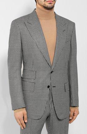 Мужской шерстяной костюм TOM FORD черно-белого цвета, арт. 622R50/21AL43   Фото 2