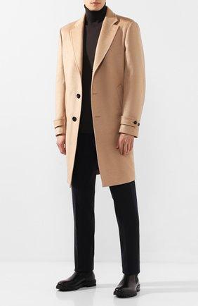 Мужской пальто из смеси шерсти и кашемира ERMENEGILDO ZEGNA бежевого цвета, арт. 698014/4DB5S0 | Фото 2
