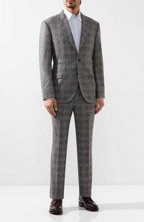 Мужской шерстяной костюм BRUNELLO CUCINELLI серого цвета, арт. MN4337BT7A   Фото 1