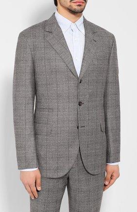 Мужской шерстяной костюм BRUNELLO CUCINELLI серого цвета, арт. MN4337BT7A   Фото 2