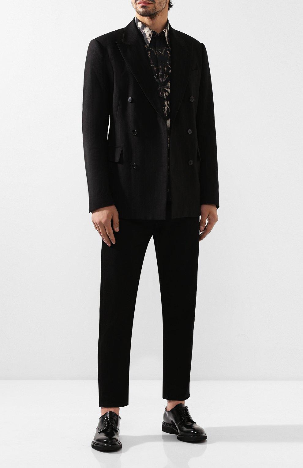 Мужские кожаные дерби PREMIATA черного цвета, арт. 30927/REAL | Фото 2