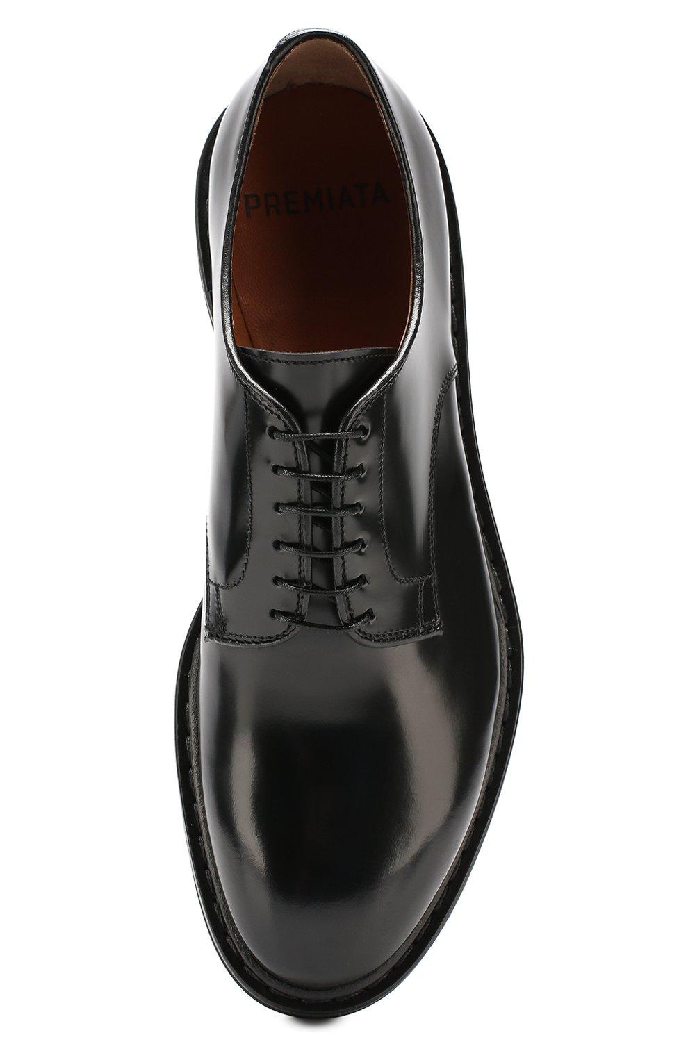Мужские кожаные дерби PREMIATA черного цвета, арт. 30927/REAL | Фото 5