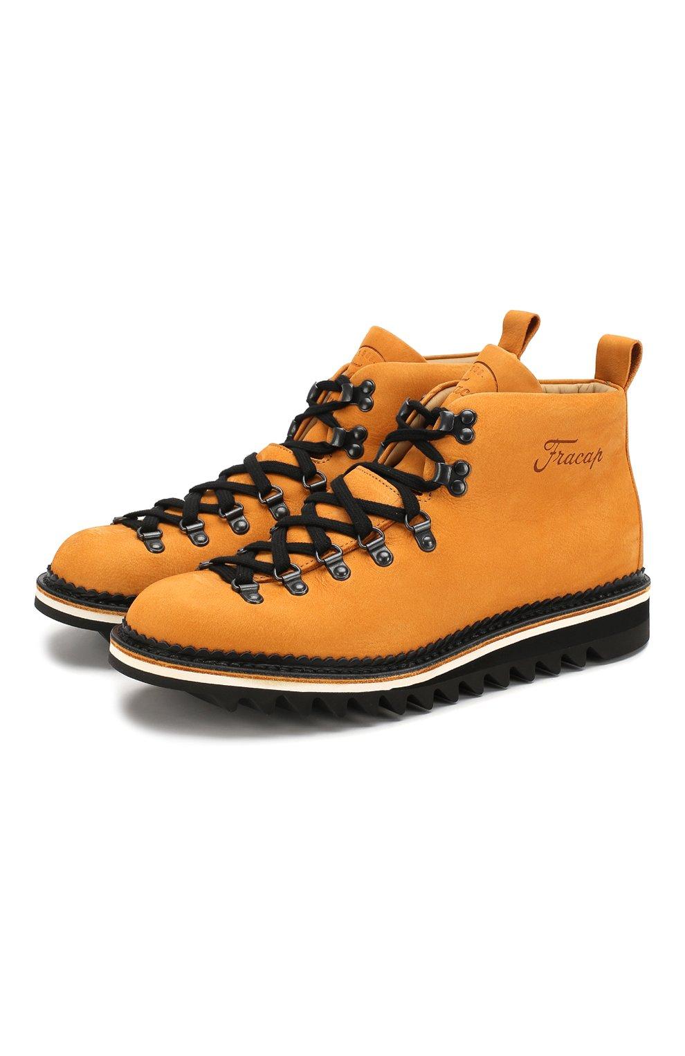 Мужские кожаные ботинки FRACAP желтого цвета, арт. M120/RIPPLE/NABUK | Фото 1