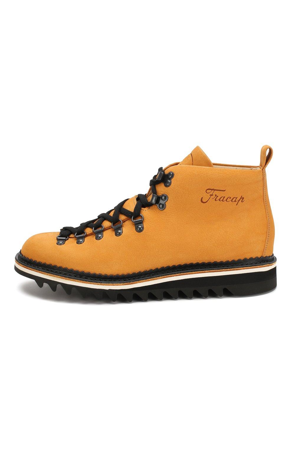 Мужские кожаные ботинки FRACAP желтого цвета, арт. M120/RIPPLE/NABUK | Фото 3