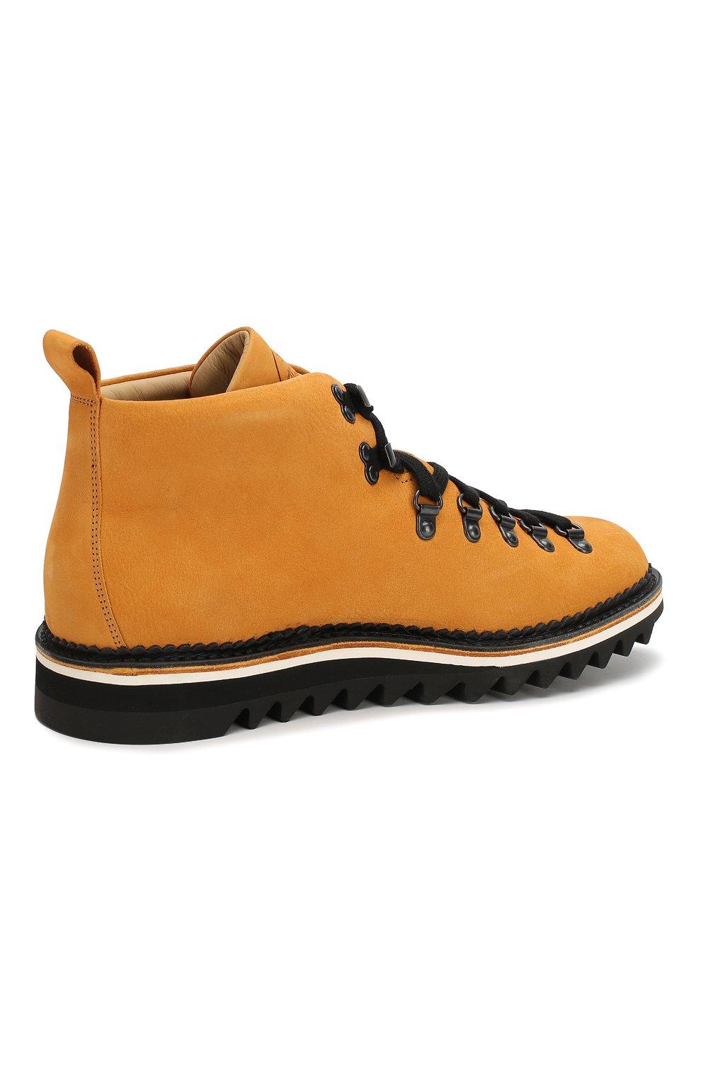 Мужские кожаные ботинки FRACAP желтого цвета, арт. M120/RIPPLE/NABUK | Фото 4